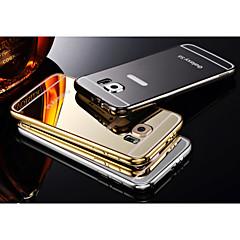 2イン1 KXサムスンのブランド金属フレームアクリル背メタルハードケース銀河S6
