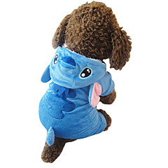 Γάτα Σκύλος Στολές Φούτερ με Κουκούλα Πυτζάμες Ρούχα για σκύλους Χαριτωμένο Στολές Ηρώων Κινούμενα σχέδια Μπλε Στολές Για κατοικίδια