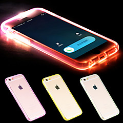 For iPhone 6 etui / iPhone 6 Plus etui Blinkende LED-lys / Transparent Etui Bagcover Etui Helfarve Blødt TPUiPhone 6s Plus/6 Plus /