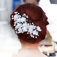 여성 진주 합금 투구-웨딩 꽃 1개
