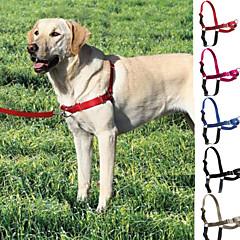 저렴한 -강아지 하니스 가죽끈 슬립 리드 조절 가능 / 리트랙터블 스테인레스 나일론 블랙 그레이 로즈 레드 블루