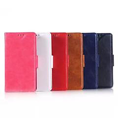 Недорогие Чехлы и кейсы для Nokia-Кейс для Назначение Nokia Lumia 640 Nokia Кейс для Nokia Бумажник для карт Кошелек со стендом Чехол Сплошной цвет Твердый Кожа PU для