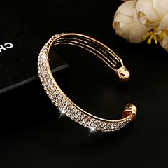 abordables Bijoux pour Femme-Cristal Manchettes Bracelets - Strass, Imitation Diamant, Or 18 Carats Rétro, Soirée, Travail Bracelet Or / Argent Pour / Cristal Autrichien