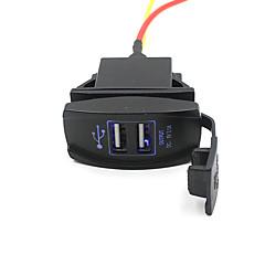 Недорогие Автоэлектроника-автомобиль грузовик лодку аксессуар 12v 24v Dual USB выход зарядное устройство адаптер питания приятно