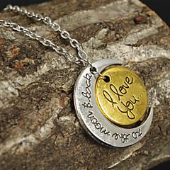 Недорогие Женские украшения-Жен. Ожерелья с подвесками - MOON, Сердце Любовь, Сердце 2 #, 3 #, 4 # Ожерелье Бижутерия Назначение Спасибо, Валентин