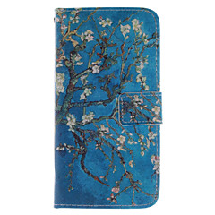 Apricot Blossom Design PU Leather Stand Case with Card Slot for  Sony Xperia Z3
