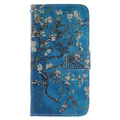дизайн абрикос цветок пу кожаный чехол стенд с слотом для карт Sony Xperia z3