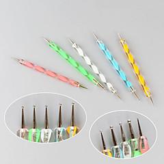 abordables herramientas que salpican-5pcs herramienta del arte del clavo que puntea la pintura de plástico + hierro plumas