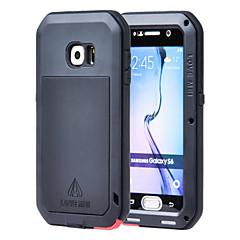 abordables Galaxy S6 Carcasas / Fundas-Lovemei Funda Para Samsung Galaxy Funda Samsung Galaxy Agua / Polvo / prueba del choque Funda de Cuerpo Entero Armadura Metal para S6