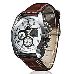 cheap Leather Band Watches-Men's Quartz Wrist Watch Casual Watch PU Band Casual Black Brown