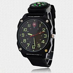 お買い得  メンズ腕時計-男性用 リストウォッチ クォーツ コンパス ナイロン バンド ハンズ チャーム ブラック - ホワイト ブラック Brown