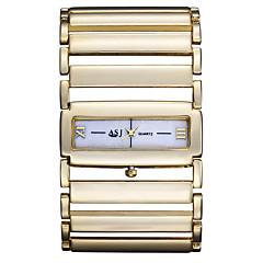 お買い得  レディース腕時計-ASJ 女性用 リストウォッチ シルバー / ゴールド 透かし加工 ハンズ レディース バングル - シルバー ゴールデン 1年間 電池寿命 / SSUO SR626SW