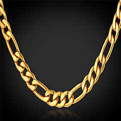 cheap Necklaces-Women's Gold Plated Chain Necklace - Fashion Golden Necklace For Christmas Gifts Wedding Party Special Occasion Birthday Gift Daily