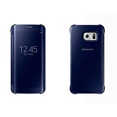 Χαμηλού Κόστους Galaxy S6 Θήκες / Καλύμματα-Για Samsung Galaxy Θήκη Θήκες Καλύμματα με παράθυρο Αυτόματη αδράνεια / αφύπνιση Καθρέφτης Ανοιγόμενη Πλήρης κάλυψη tok Μονόχρωμη Σκληρή
