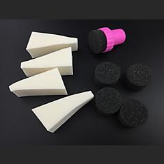 9pcs manicure esponja ferramentas da arte do prego profissionais para cor gradiente de nail art&mulit-cor das unhas