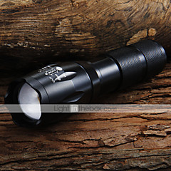 UltraFire LED Flashlights LED Fenerler LED 1600 lm 5 Kip Cree XM-L T6 Pil ve Şarj Aleti ile Zoomable Ayarlanabilir Fokus