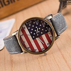 preiswerte Tolle Angebote auf Uhren-Damen Armbanduhr Quartz Armbanduhren für den Alltag PU Band Analog Charme Modisch Schwarz - Grün Blau Rosa / Edelstahl