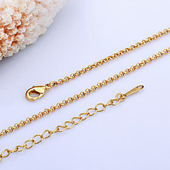 お買い得  ネックレス-女性用 真珠 18Kゴールド チェーンネックレス  -  ゴールド ホワイト ネックレス 用途