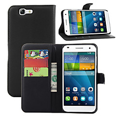 Недорогие Кейсы для Huawei других серий-Кейс для Назначение Huawei G7 Huawei Кейс для Huawei Бумажник для карт Кошелек со стендом Флип Чехол Сплошной цвет Твердый Кожа PU для