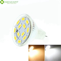 5W GU4(MR11) LED Spotlight MR11 12 SMD 5730 450-500 lm Warm White Cold White Natural White 3500K  6000K 6500K K Dimmable Decorative DC 12 1pc