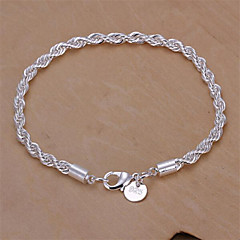 Women's Chain Bracelet Basic Fashion Sterling Silver Snake Geometric Jewelry Jewelry For Wedding Party Daily