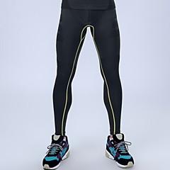 compressão meias ginásio de esportes profissionais calças dos homens de alta elasticidade corredores executando tights leggings calças dos