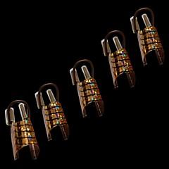 NT2의 10PCS 패션 여성 황금과 은색 아크릴 UV 젤 팁 프랑스어 네일 아트 장식을위한 네일 도구를 형성
