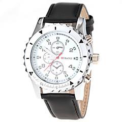 お買い得  メンズ腕時計-JUBAOLI 男性用 ドレスウォッチ クォーツ レザー バンド ハンズ ブラック / ブラウン - Brown ホワイト-ブラック ブラック