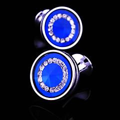povoljno Manžete-Crn Plava 4 Mandzsettagombok Kamen Muškarci Nakit odjeće