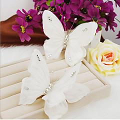 Butterfly  Shape Pearl Hair Clip Bride Hair Wedding Headdress Wedding Accessories One Piece