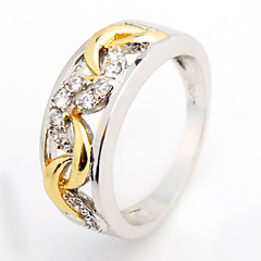 Size 6/7/8/9/10 High Quality Women Yellow Sapphire Rings 10KT White Gold Filled Ring