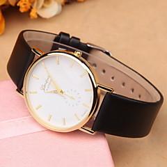 お買い得  レディース腕時計-女性用 ファッションウォッチ クォーツ PU バンド ハンズ ブラック / 白 - ホワイト ホワイト-ブラック ブラック