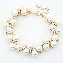 preiswerte Armbänder-Damen Perle Ketten- & Glieder-Armbänder / Bettelarmbänder - Perle, Strass Zierlich, Party, Freizeit Armbänder Für Hochzeit / Geschenk / Alltag