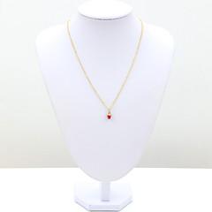 Женский Ожерелья с подвесками Кристалл Стразы Имитация Алмазный 18K золото Мода Красный Розовый Бижутерия