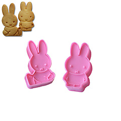 2PCS Miffy Pattern Cake and Cookie Cutter Mold Bakewares Kitchen & Dining