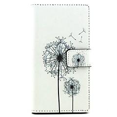 Для Кейс для Sony / Xperia Z5 / Xperia Z3 Кошелек / Бумажник для карт / со стендом / Флип Кейс для Чехол Кейс для Одуванчик Твердый