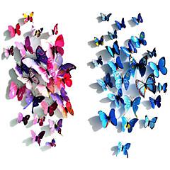abordables Accesorios para Álbums de Fotos-Simulación 3d del arte de la pared de las decoraciones de la pared de la forma 3d de la mariposa