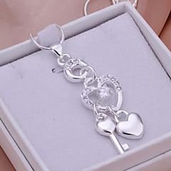 Medálok Strassz Heart Shape ezüst 1