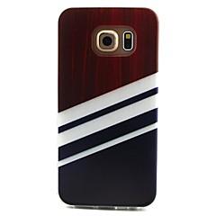Kompatibilitás Samsung Galaxy tok tokok Minta Hátlap Case Vonalak / hullámok Hőre lágyuló poliuretán mert Samsung Galaxy S6 edge S6 S5