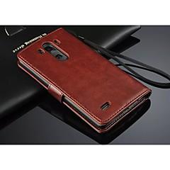 Недорогие Чехлы и кейсы для LG-Кейс для Назначение LG G3 / LG Кейс для LG С узором Чехол Фрукты Твердый Кожа PU для