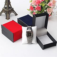 お買い得  腕時計用アクセサリー-ジュエリーボックス  -  ファッション ブラック, レッド, ブルー 9.7 cm 7.3 cm 5.5 cm / 女性用 / 男性用