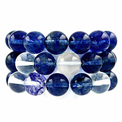 beadia 39cm / str (ca 39pcs) naturlige vandmelon blå kvarts 10mm runde blå sten løse perler DIY tilbehør