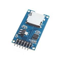 레벨 변환기 칩의 Arduino 마이크로 SD 카드 모듈 TF 카드 리더 카드 리더 SPI 인터페이스