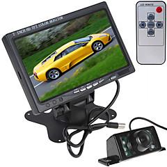 お買い得  アラーム&セキュリティ-HDMI + 7 IRライトの車のリアビューカメラ付き7インチ800×480カラー液晶画面車のリアビューモニター