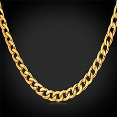 Men's Chain Necklaces Vintage Necklaces Stainless Steel Gold Plated Fashion Costume Jewelry Jewelry For Wedding Party Daily Casual