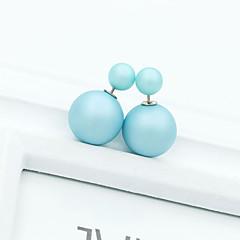 お買い得  イヤリング-女性用 クリスタル 真珠 人造真珠 ラインストーン スタッドピアス  -  ファッション 欧風 ピンク ライトブルー ライトグリーン イヤリング 用途