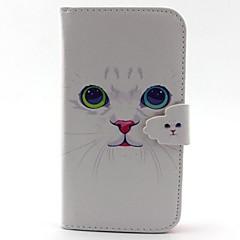 Για Samsung Galaxy Θήκη Θήκη καρτών / Πορτοφόλι / με βάση στήριξης / Ανοιγόμενη tok Πλήρης κάλυψη tok Γάτα Συνθετικό δέρμα SamsungS5 / S4