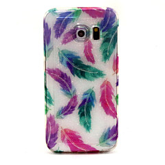 billige Galaxy S4 Mini Etuier-For Samsung Galaxy etui Mønster Etui Bagcover Etui Fjer TPU for Samsung S6 edge S6 S5 S4 Mini S4 S3 Mini S3