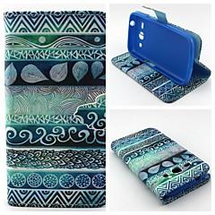 voordelige Galaxy Alpha Hoesjes / covers-Voor Samsung Galaxy hoesje Portemonnee / Kaarthouder / met standaard / Flip hoesje Volledige behuizing hoesje Geometrisch patroon PU-leer