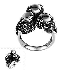 Кольцо Нержавеющая сталь В форме черепа Бижутерия Уникальный дизайн Мода Серебряный Бижутерия Halloween Повседневные Спорт 1шт